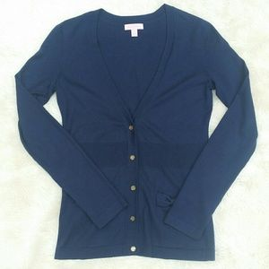 Lilly Pulitzer silk blend navy button cardigan S